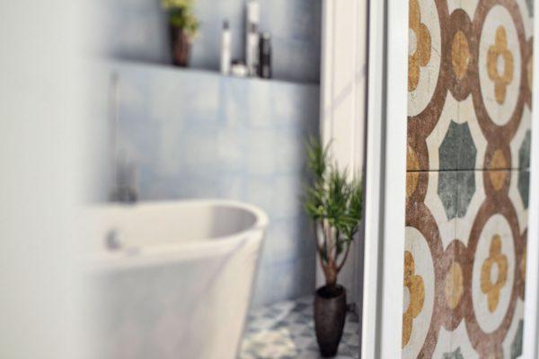 Mosaico baño decoración Aliaga